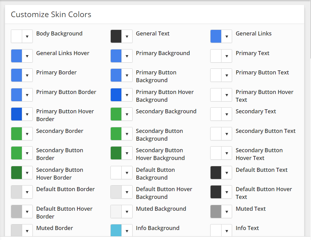 How to customize the Readable skin - Aleyant Systems