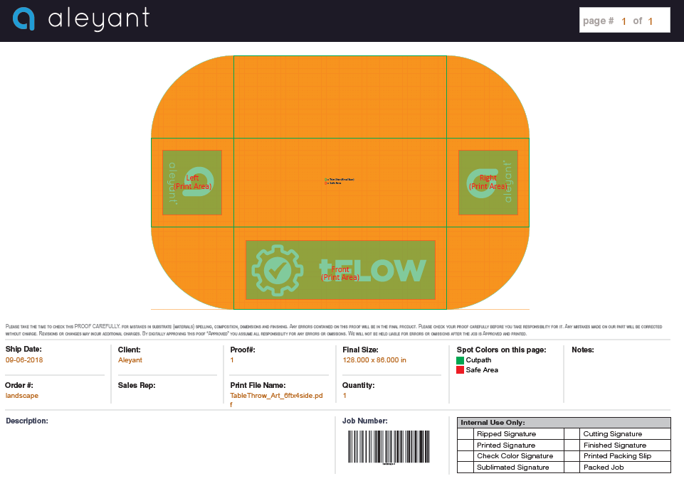 tFLOW Custom Products Specification - Aleyant Systems