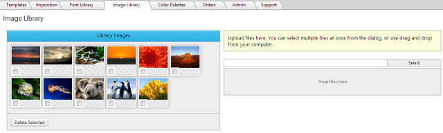 eDocBuilder's Image Library enables you to manage your web-to-print template images in one location.